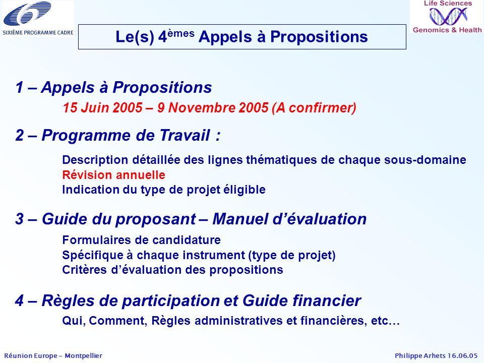 Le(s) 4èmes Appels à Propositions