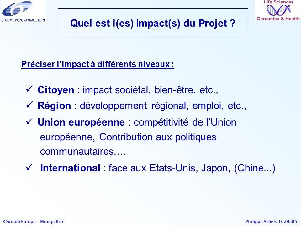 Quel est l(es) Impact(s) du Projet