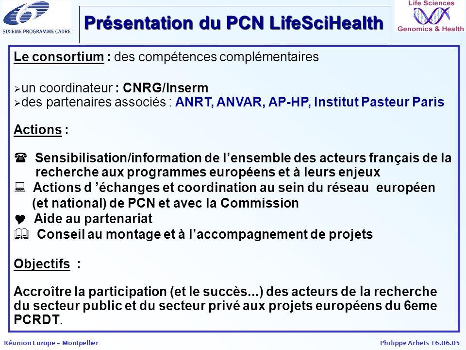 Présentation du PCN LifeSciHealth