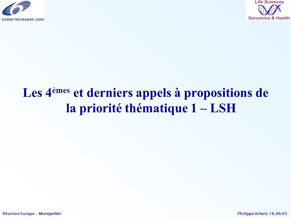 Les 4èmes et derniers appels à propositions de la priorité thématique 1 – LSH