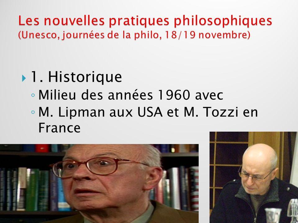 Les nouvelles pratiques philosophiques (Unesco, journées de la philo, 18/19 novembre)