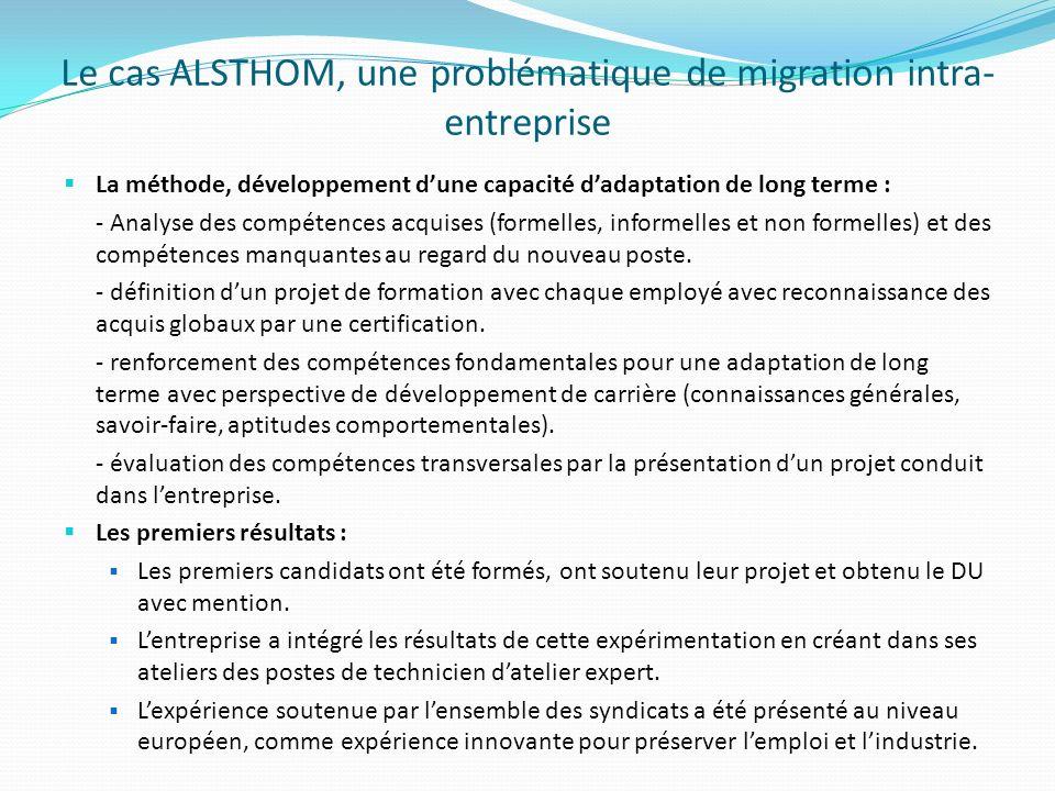 Le cas ALSTHOM, une problématique de migration intra-entreprise