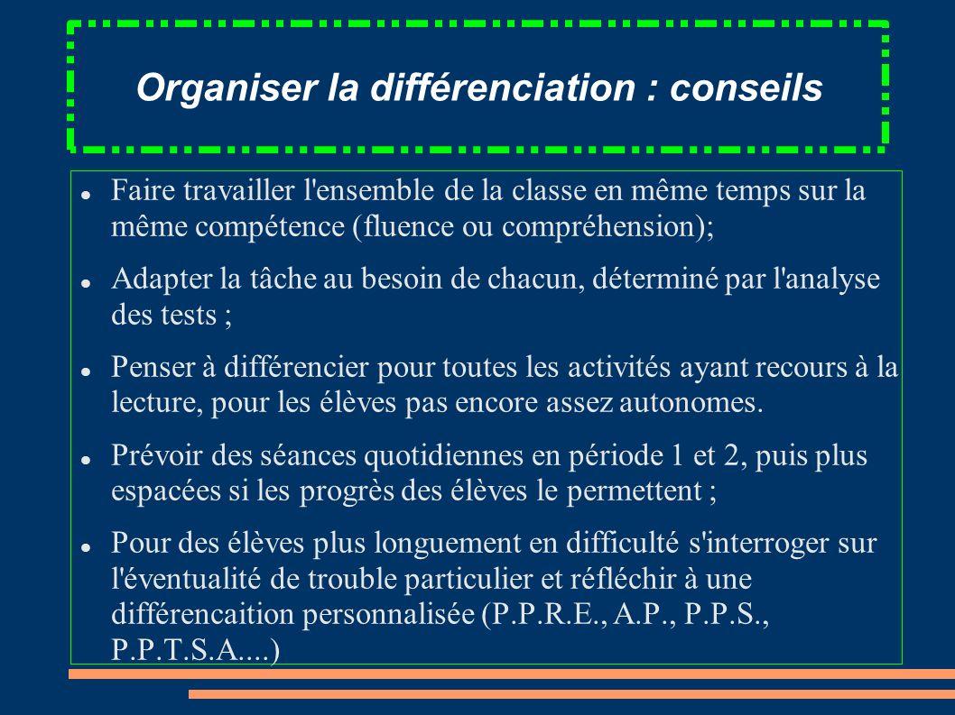 Organiser la différenciation : conseils