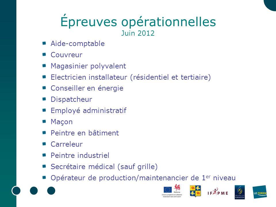 Épreuves opérationnelles Juin 2012