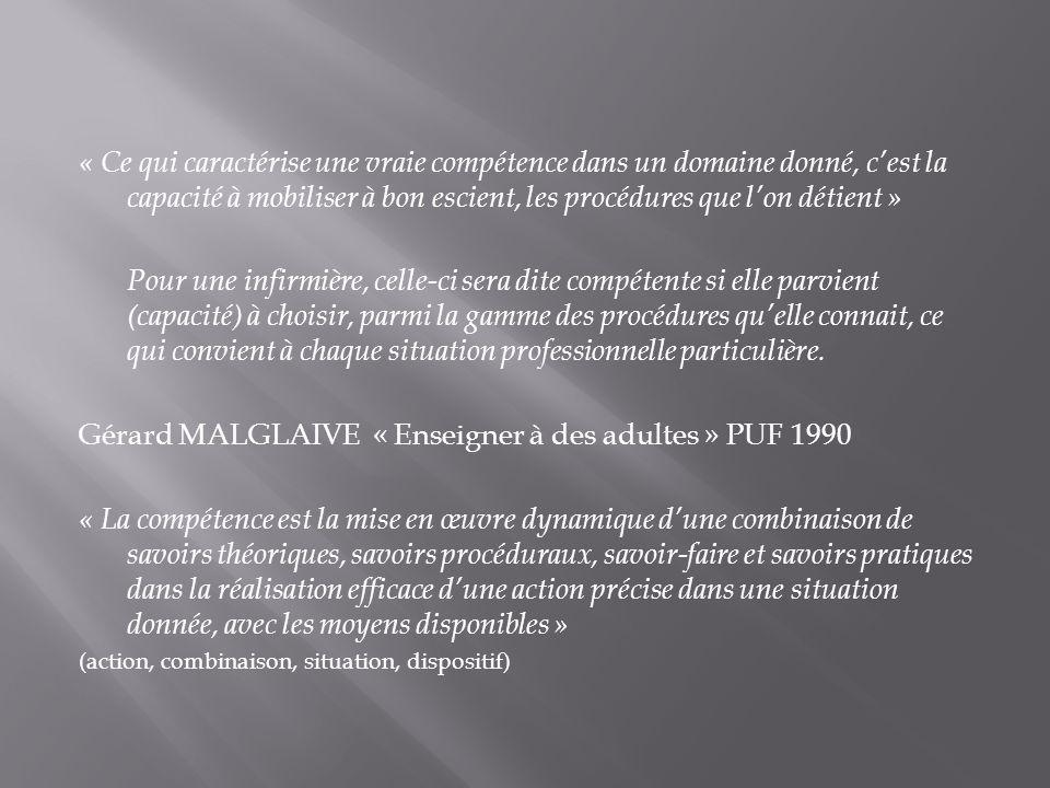 Gérard MALGLAIVE « Enseigner à des adultes » PUF 1990