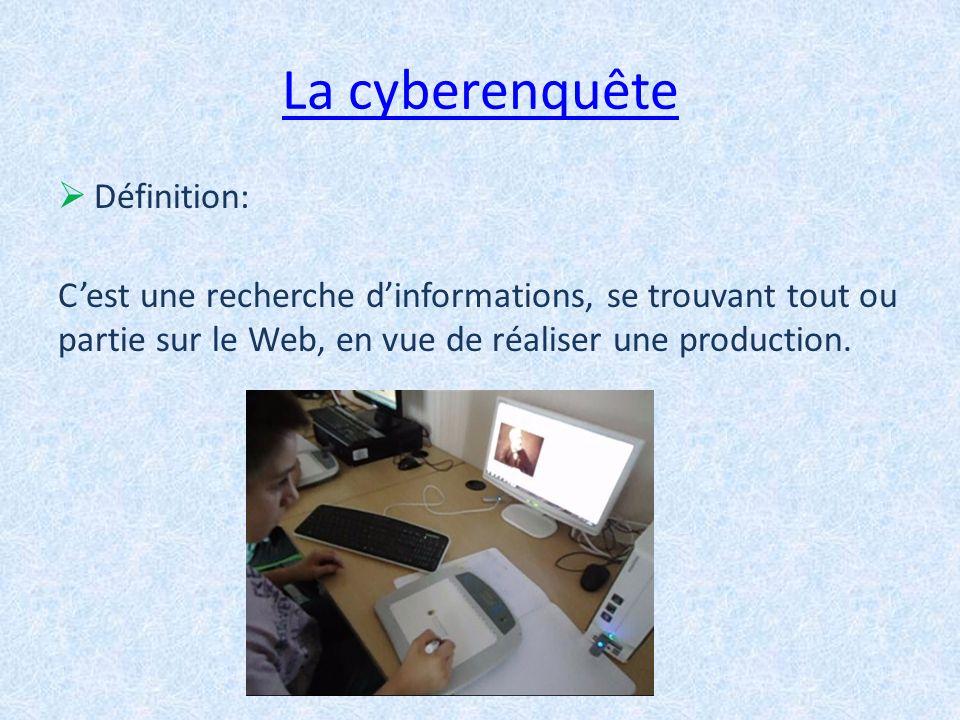 La cyberenquête Définition: