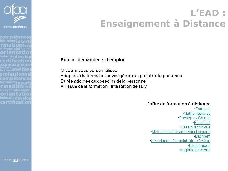 L'EAD : Enseignement à Distance