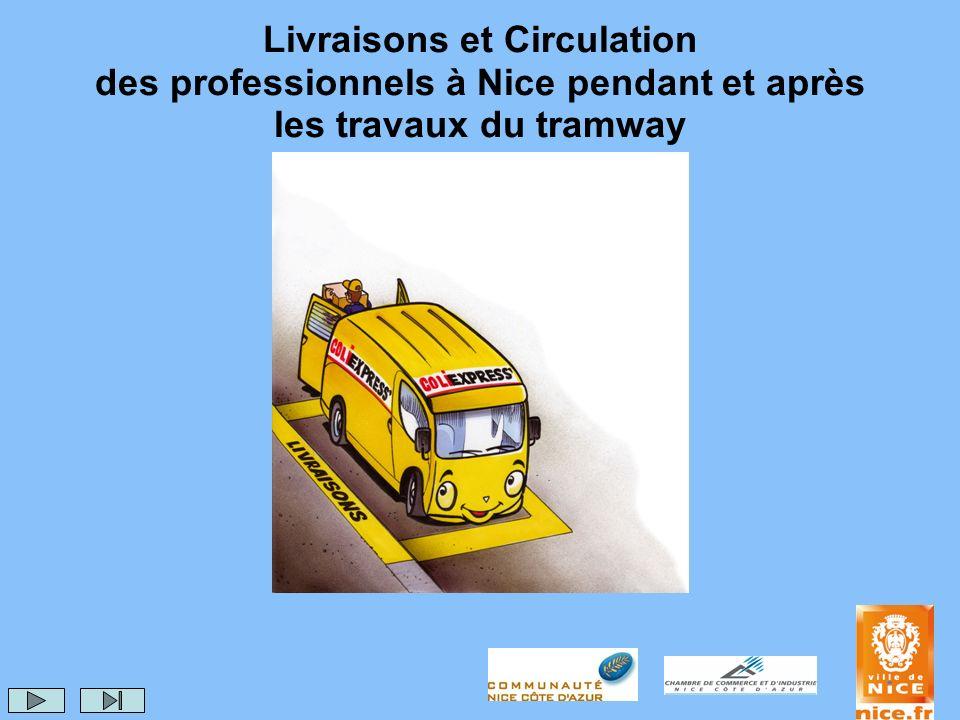 Livraisons et Circulation des professionnels à Nice pendant et après les travaux du tramway