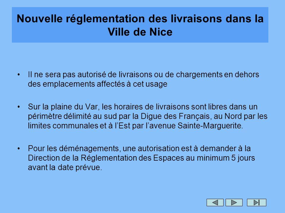 Nouvelle réglementation des livraisons dans la Ville de Nice