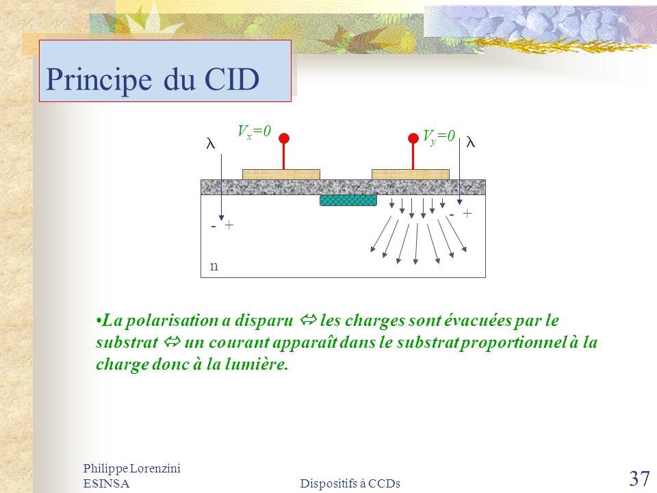 Principe du CID Vy=0. - + l. Vx=0. n.