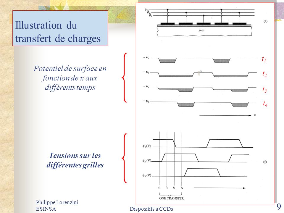 Illustration du transfert de charges
