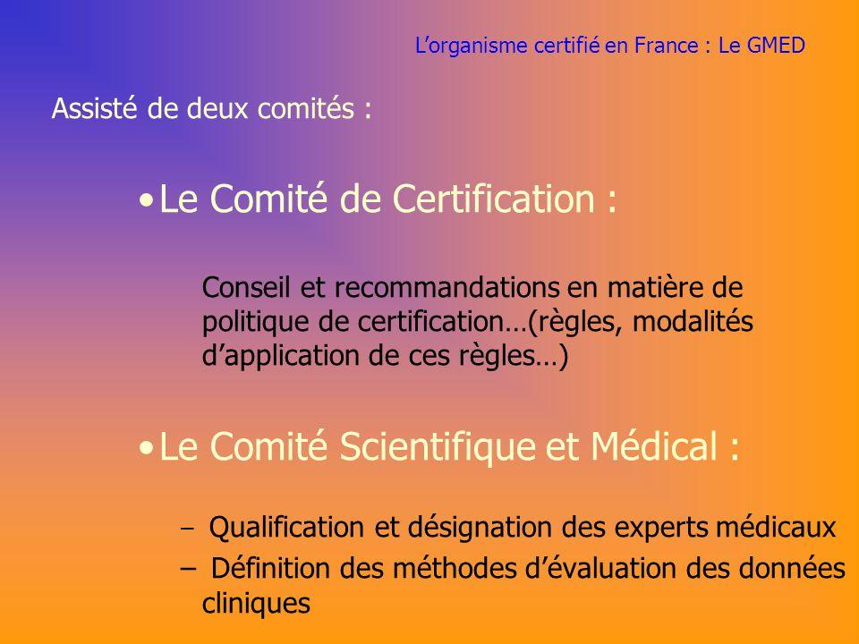 Le Comité de Certification :