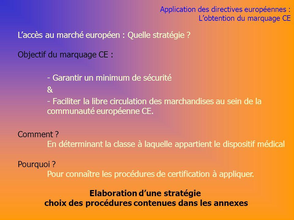 Application des directives européennes : L'obtention du marquage CE