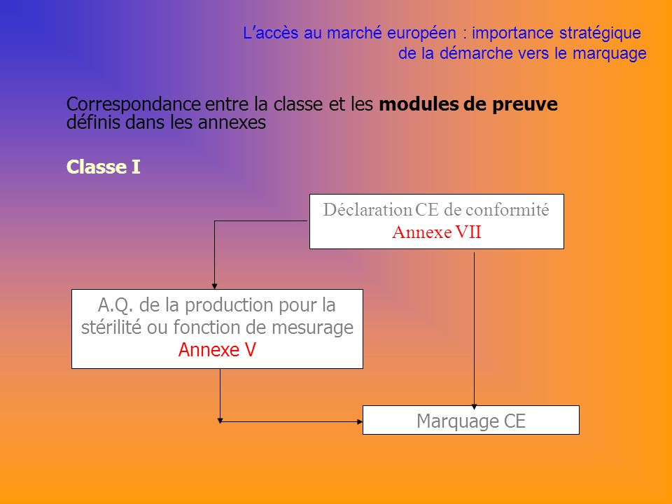 Déclaration CE de conformité Annexe VII