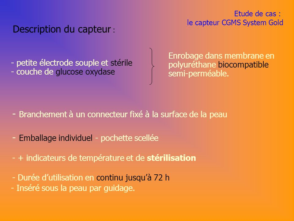 Description du capteur :