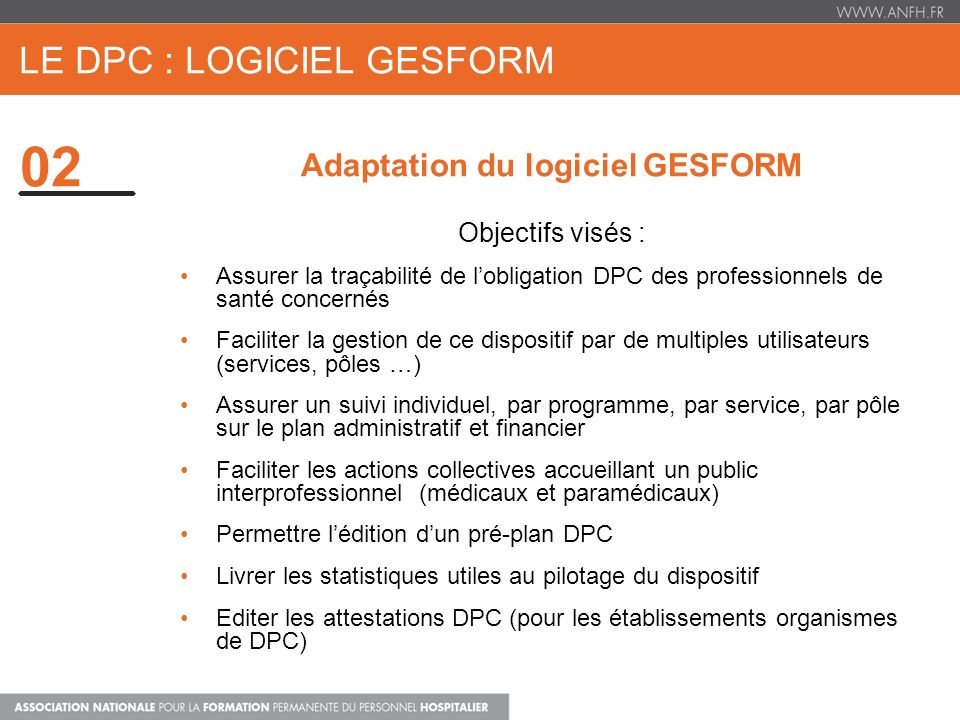 le dpc : Logiciel gesform