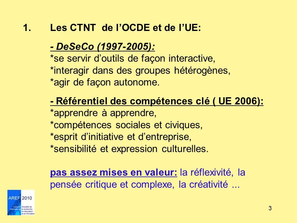 Les CTNT de l'OCDE et de l'UE: - DeSeCo (1997-2005):