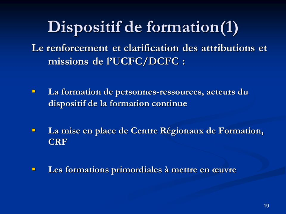 Dispositif de formation(1)