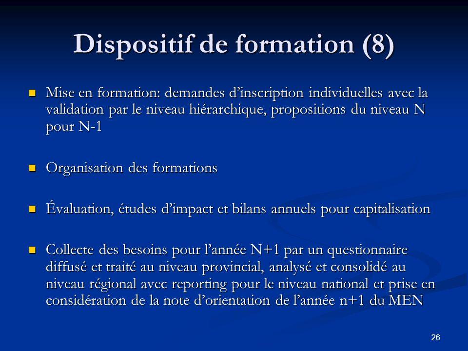 Dispositif de formation (8)