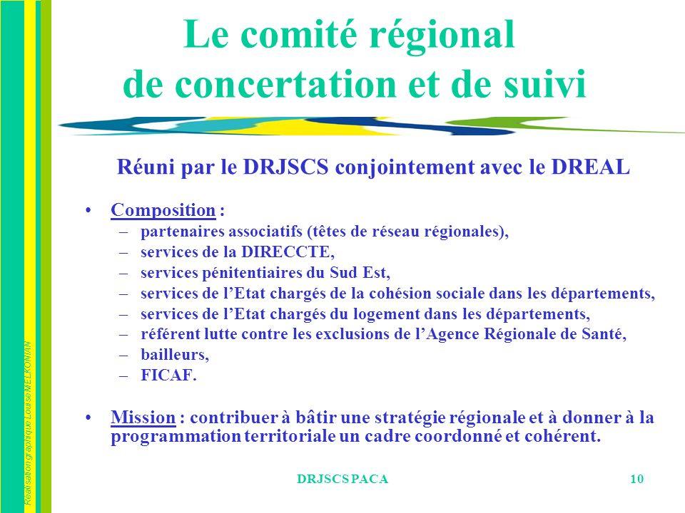 Le comité régional de concertation et de suivi