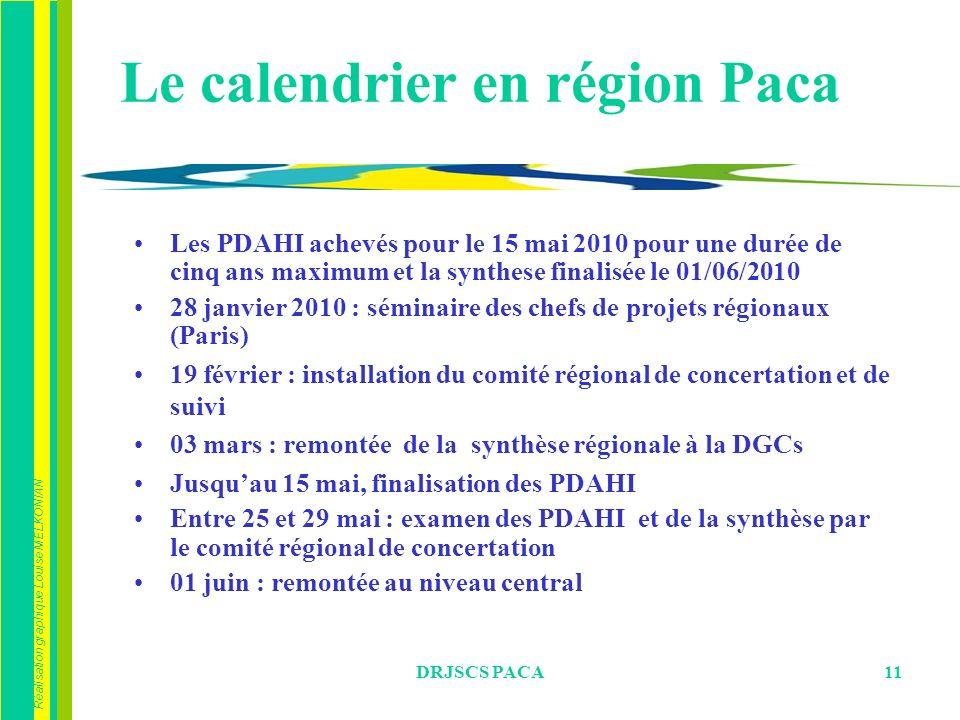 Le calendrier en région Paca