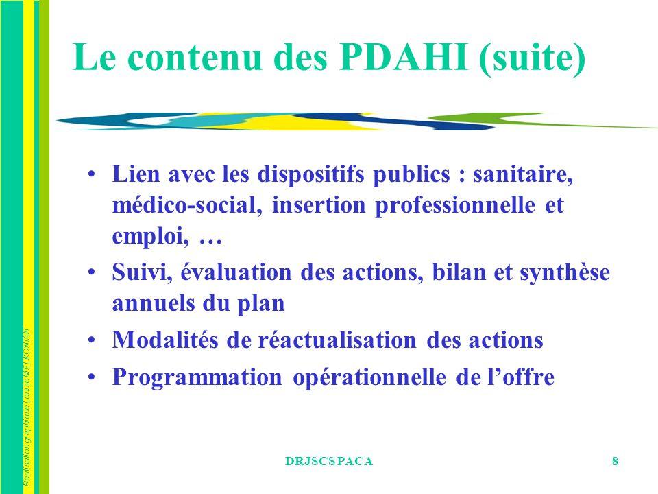 Le contenu des PDAHI (suite)