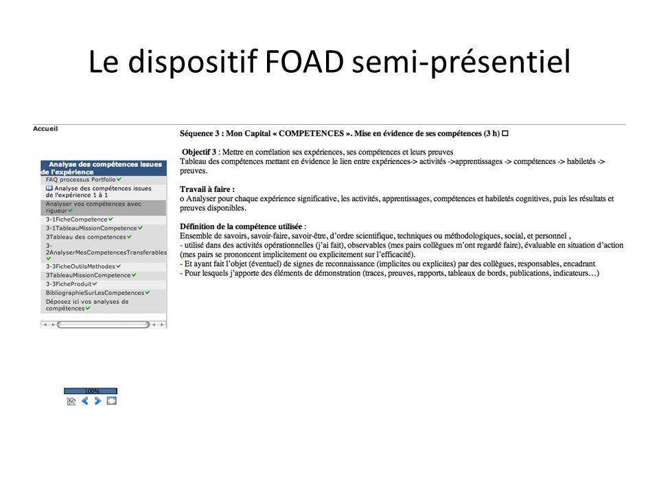 Le dispositif FOAD semi-présentiel