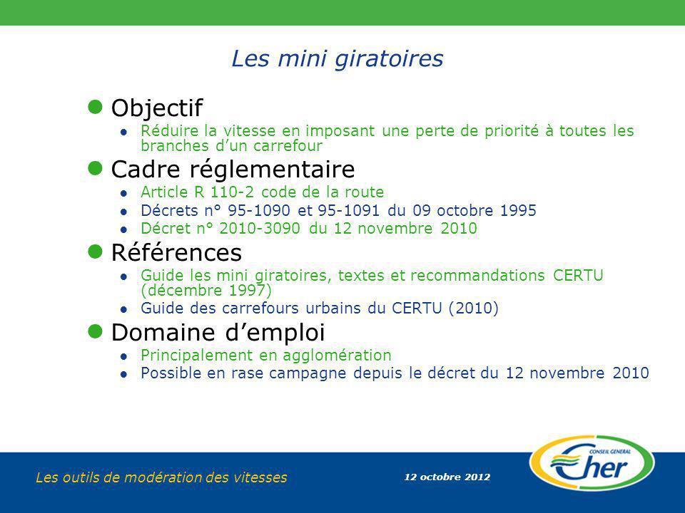 Objectif Cadre réglementaire Références Domaine d'emploi