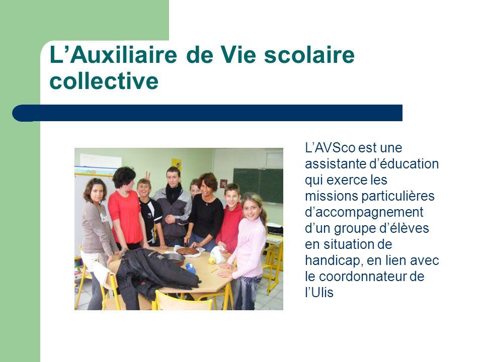 L'Auxiliaire de Vie scolaire collective