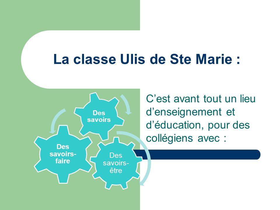La classe Ulis de Ste Marie :
