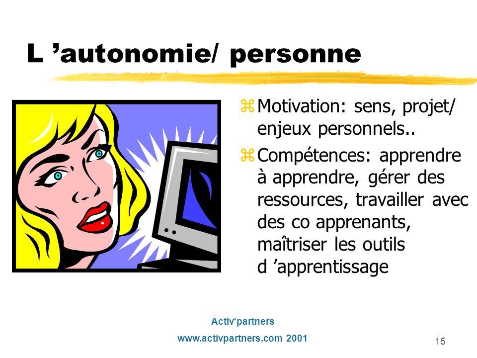 L 'autonomie/ personne
