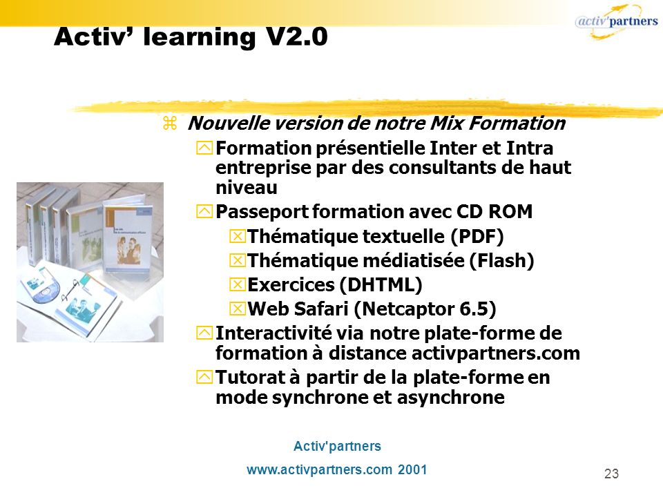 Activ' learning V2.0 Nouvelle version de notre Mix Formation