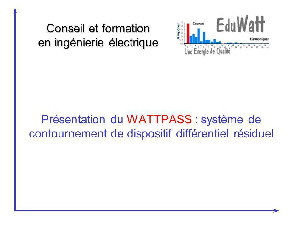 30/03/2017 Présentation du WATTPASS : système de contournement de dispositif différentiel résiduel