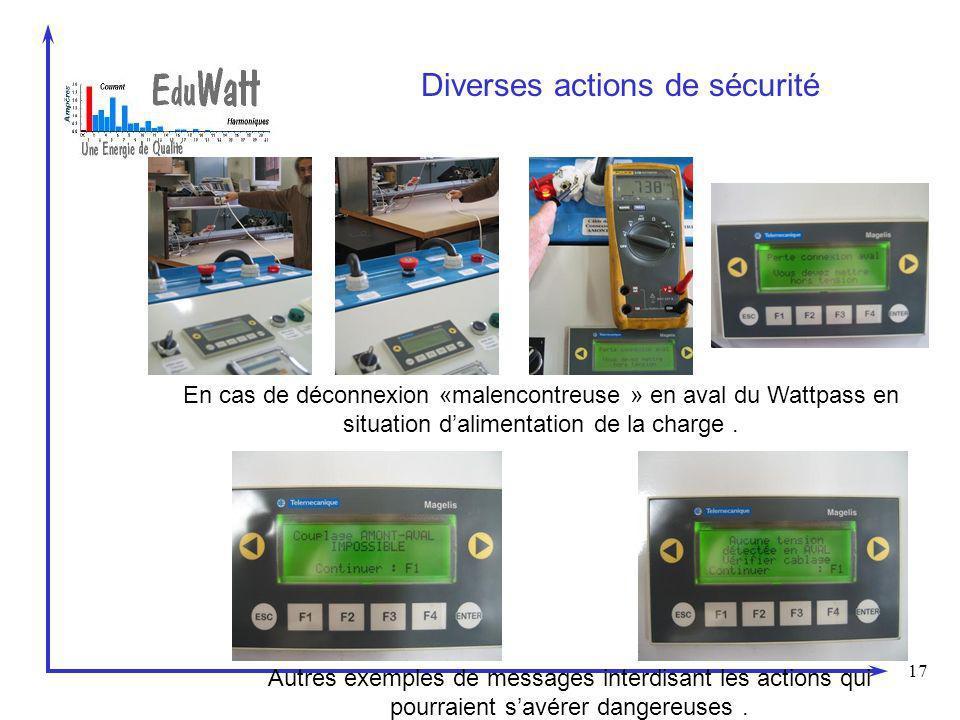Diverses actions de sécurité