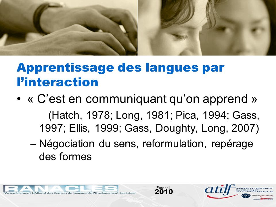 Apprentissage des langues par l'interaction