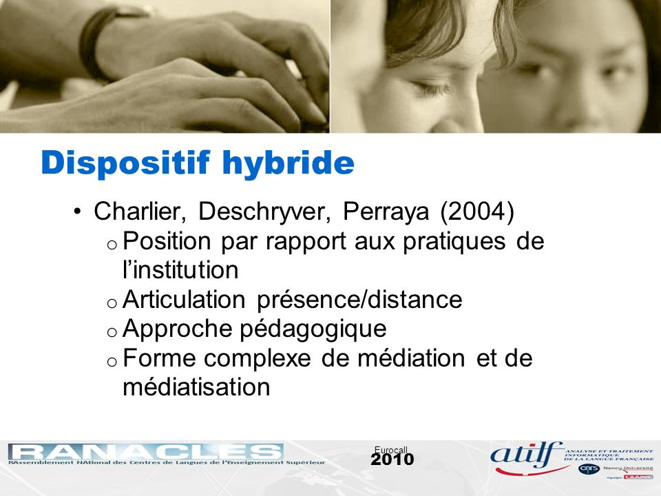 Dispositif hybride Charlier, Deschryver, Perraya (2004)