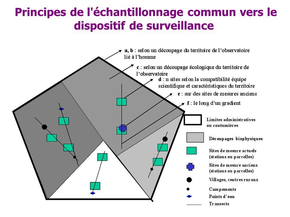 Principes de l échantillonnage commun vers le dispositif de surveillance