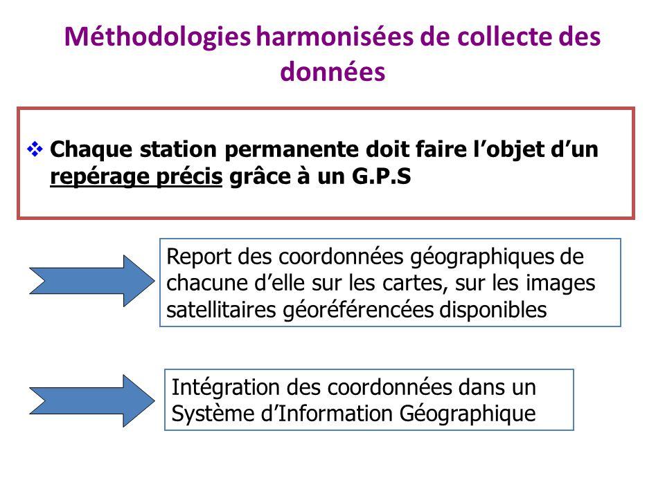 Méthodologies harmonisées de collecte des données