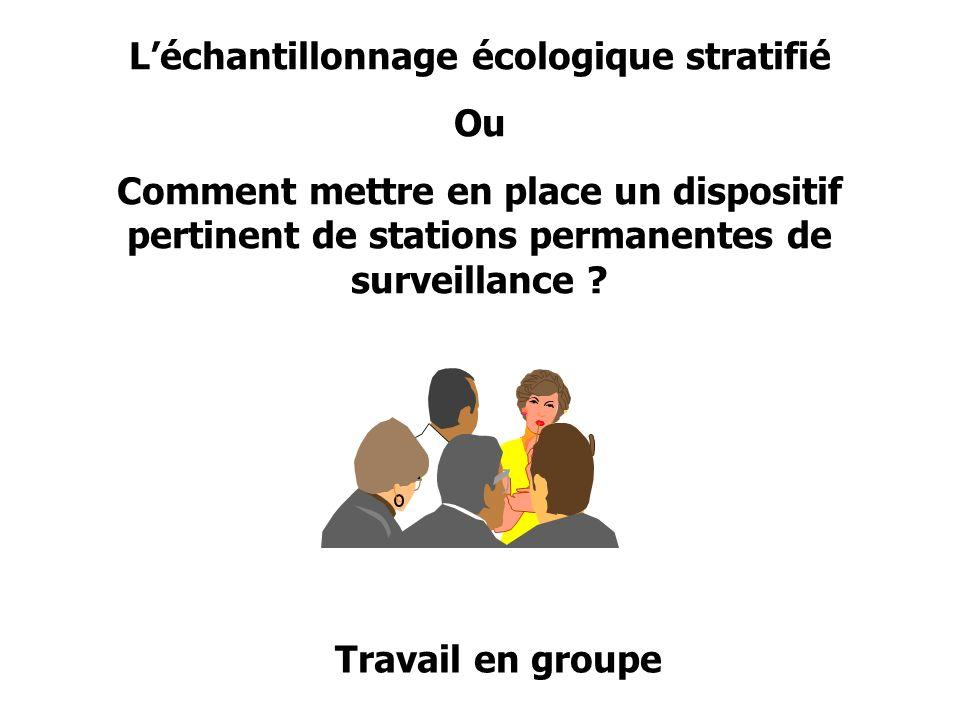 L'échantillonnage écologique stratifié