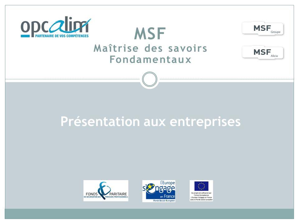 MSF Maîtrise des savoirs Fondamentaux
