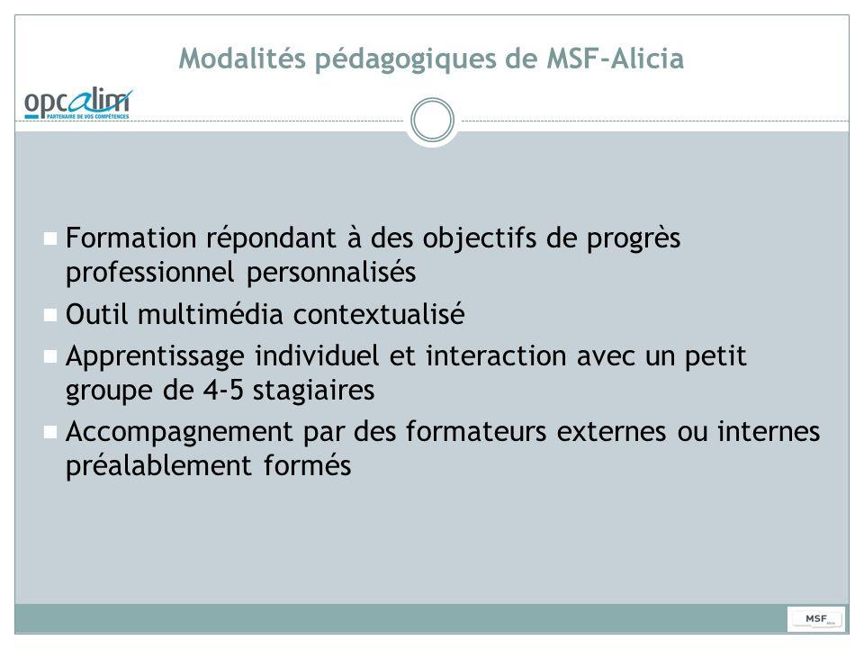Modalités pédagogiques de MSF-Alicia