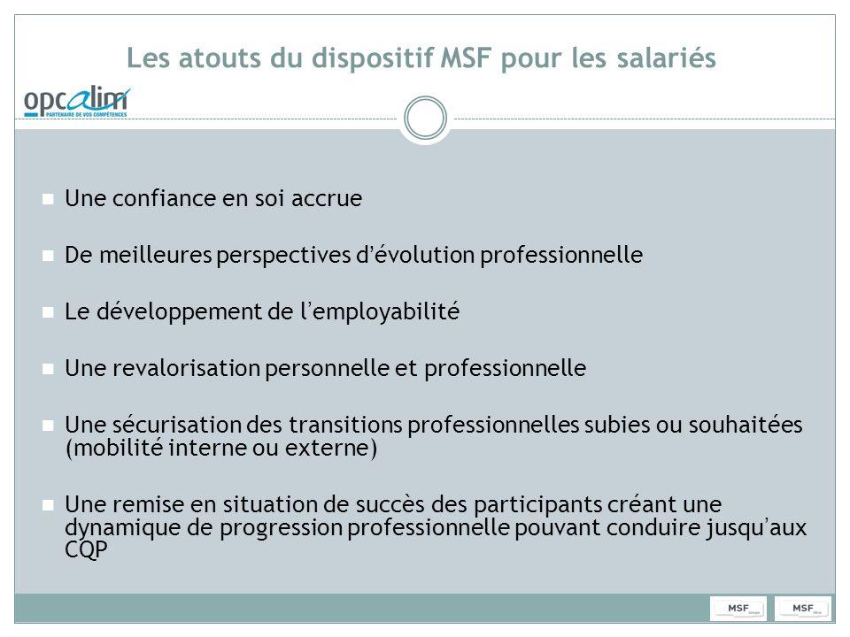 Les atouts du dispositif MSF pour les salariés