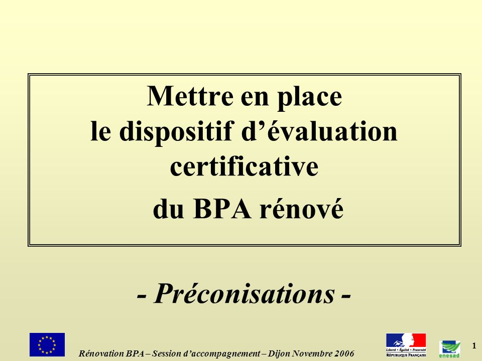 Mettre en place le dispositif d'évaluation certificative