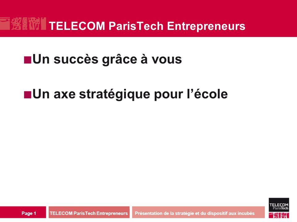 Contexte TELECOM ParisTech Entrepreneurs / Paris existe depuis 9 ans