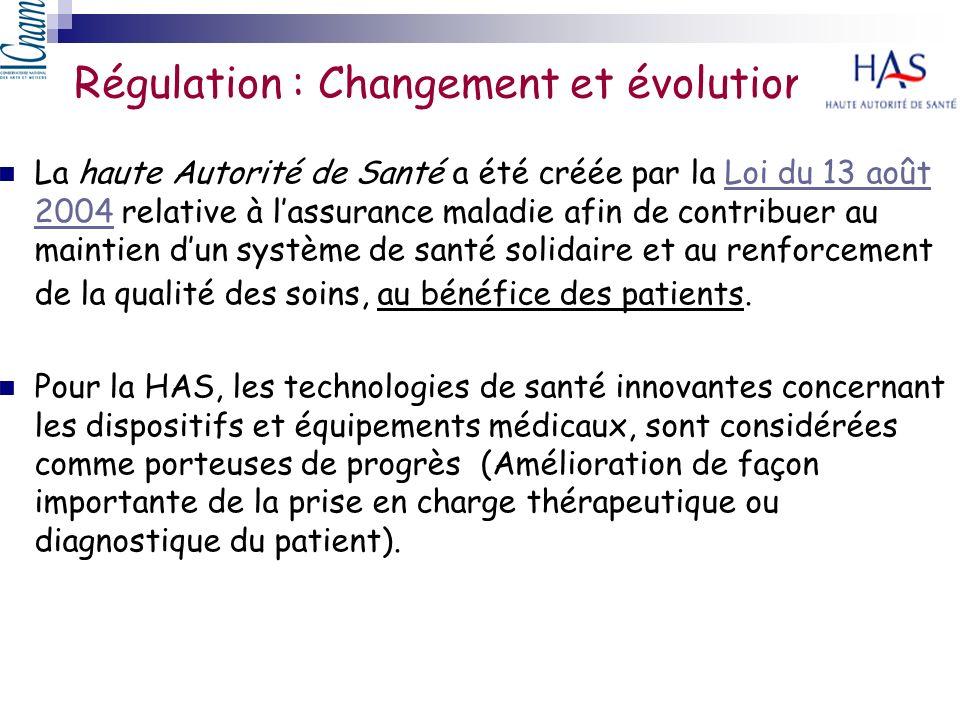 Régulation : Changement et évolution