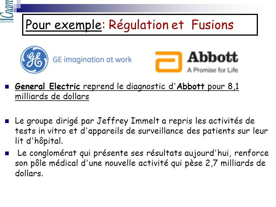Pour exemple: Régulation et Fusions