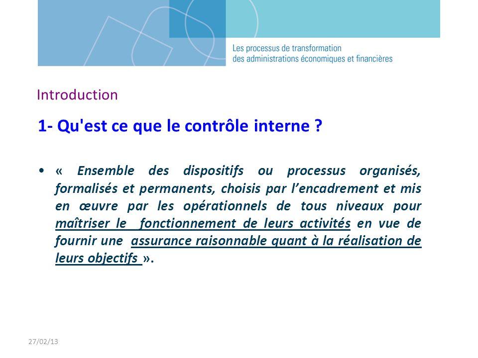 1- Qu est ce que le contrôle interne