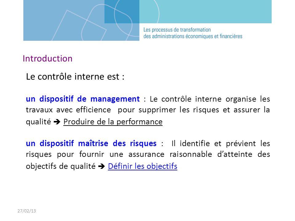 Le contrôle interne est :