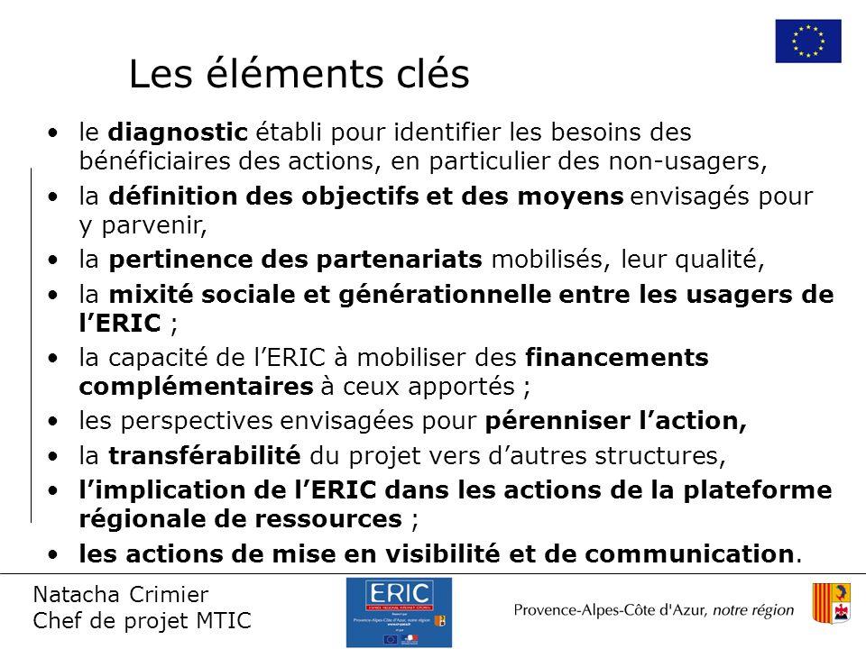 Les éléments clésle diagnostic établi pour identifier les besoins des bénéficiaires des actions, en particulier des non-usagers,