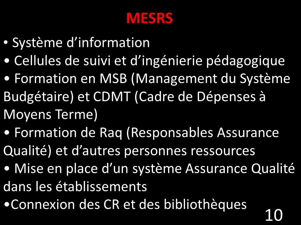 MESRS Système d'information